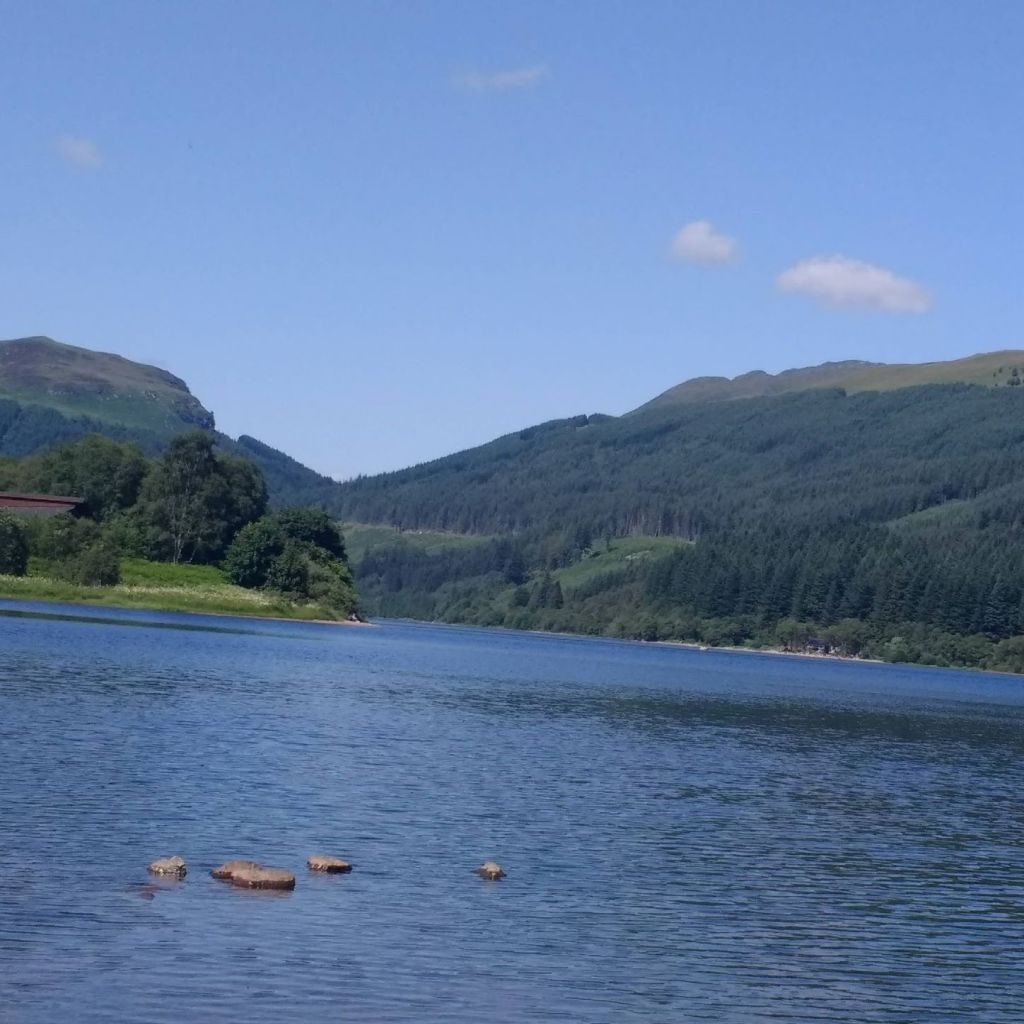 Wild swimming in Stirlingshire - Loch Lubnaig